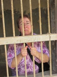 in jail - haha