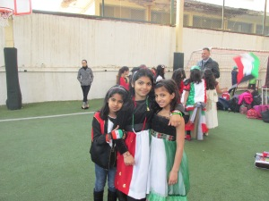 girls decked out for National Day