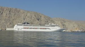 these cruise ships come in to Khasab twice a week