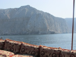 more beautiful views from the comfort of cushions on the dhow