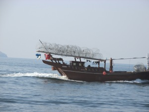 Then along came a dhow loaded with fish traps.