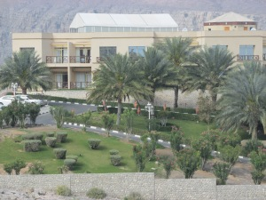 gardens around the Atana Khasab Hotel