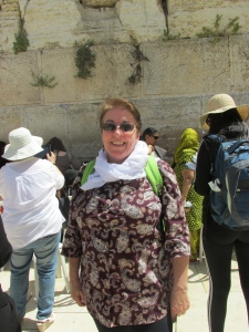 In front of the Wailing Wall