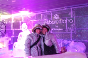 Adrianne and me in Icebarcelona