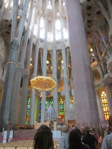 Chancel area inside La Sagrada Familia