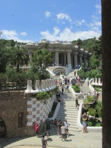 Grand staircase entering Park Guell