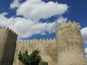 Tower in the wall around Avila