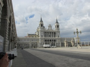 Across the courtyard at Palacio Real