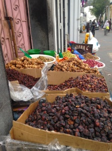 Just outside the medina - dates, figs, etc. Who knows what it all is?