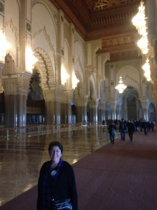 Me inside Hassan II Grand Mosque in Casablanca, where 25,000 worshipers can be held.