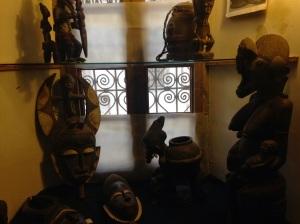 Sub Sahara African sculptures inside museum