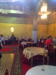 Traditional Moroccan restaurant where we had lunch