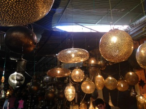 Metal lanterns - so pretty, but where would I put it??