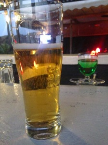 Lovely beer at a rooftop terrace bar