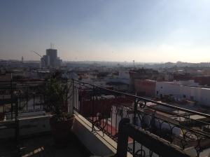 View from the rooftop terrace at the riad