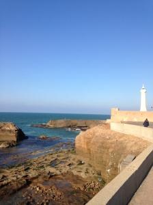 The coastline in Rabat.
