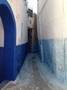 This is about how big the alley was that our riad was on.  This is in the walled city though.