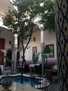 Courtyard in our new riad in Fes.