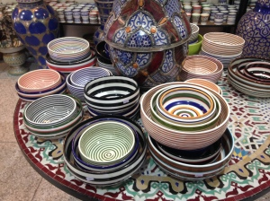 Bowls decorated in more modern style