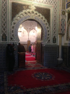 Another peek inside the mosque from a different doorway.