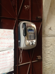 You don't see pay phones anymore, so I thought this was kind of quaint.