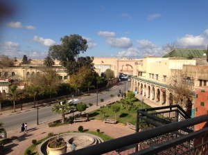 View of Old Meknes from our rooftop terrace cafe.
