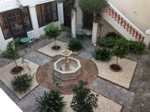 Courtyard at the American Legation building