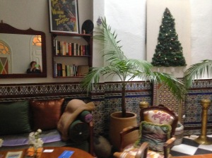 In the common area of our riad.