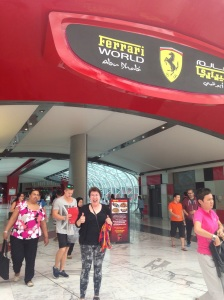 me at entrance to Ferrari World