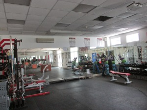 Weight room at TAISM