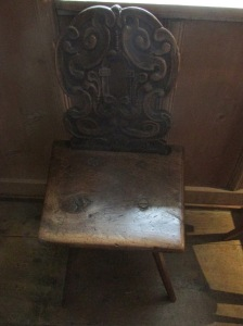 chair in the doctor's waiting room at the castle