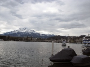 Mount Pilatus across Lake Lucerne
