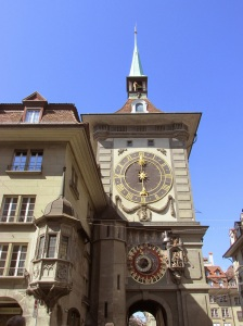 Clock tower in Bern, modeled after the one in Prague
