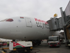 Kenya Air arrival in Nairobi