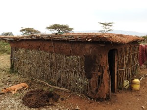 stick and dung house belonging to Jonathan