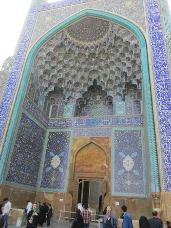 This is the entrance to the Imam Khomeini mosque.