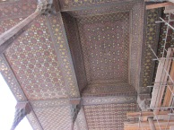 Wooden ceiling decoration at the palace.
