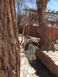 Canal water source in Abyaneh