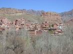Village of Abyaneh nestled into the hillside