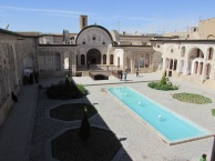 Vast courtyard in a giant mansion