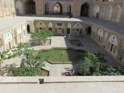 Looking down into the religious school area courtyard. We were not allowed below.
