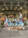 A huge Nowruz display inside the tower