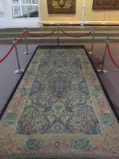 Old carpet on display