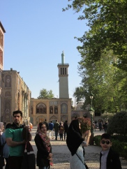 Minaret of the mosque inside the palace walls