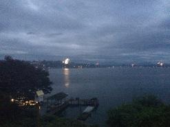 Fireworks over Lake Stevens on July 4th.