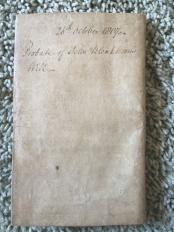 History: Will of John Blinkhorn from 1804?
