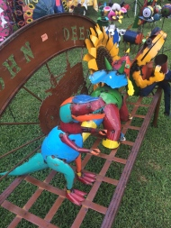 A few dinosaurs and critters at the French Connection in Pittsboro, NC