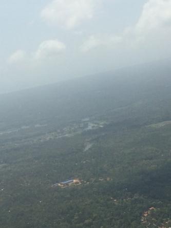 Sri Lanka from the plane