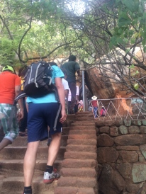 Stairs, stairs, and more stairs; plus they were rough and not of the same depth or width. AND often coated with sand.