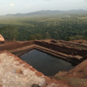 There were ruins of quite a large palace on the very top, and this pool.